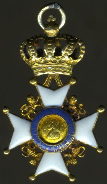 Miniatur - Sächsische Herzogtümer, Ernestinischer Hausorden für Ausländer (!)