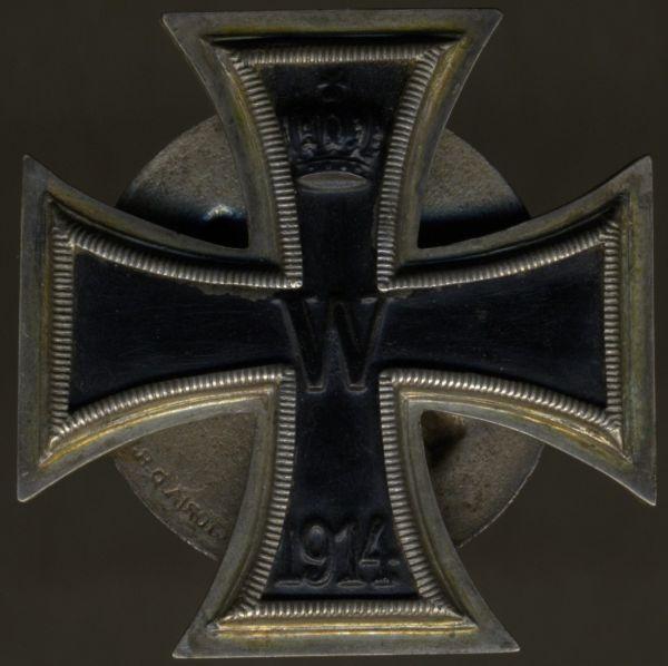 """Eisernes Kreuz 1. Klasse 1914 - Schraubscheibe - """"VICTORIA D.R.G.M."""" (!)"""