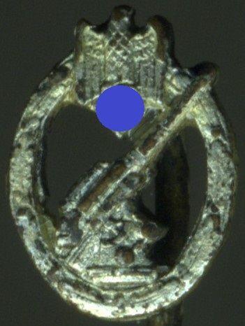 Miniatur - Flakkampfabzeichen des Heeres