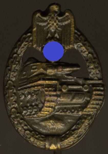 Miniatur - Panzerkampfabzeichen in Bronze