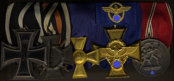 5er Ordensschnalle eines Polizisten & Weltkriegsveteranen
