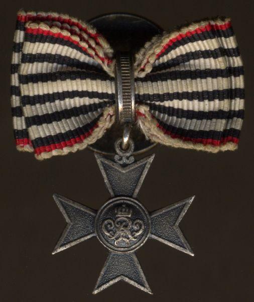 Miniaturdekoration - Preußen, Verdienstkreuz für Kriegshilfsdienst