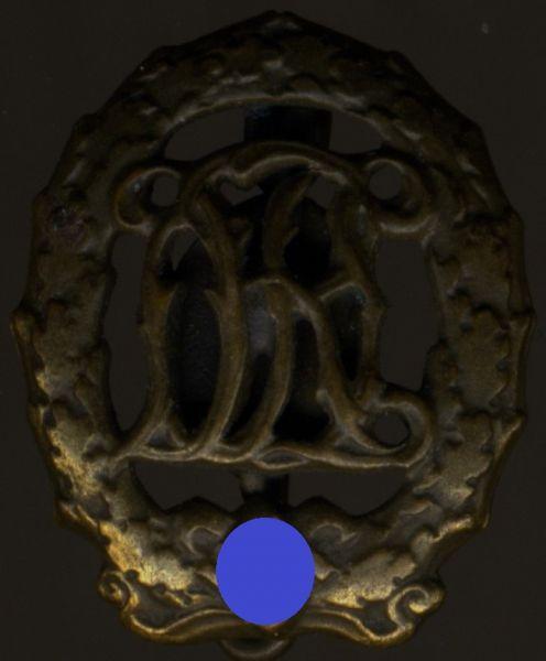 Miniatur - Reichssportabzeichen in Bronze - Berg & Nolte / Lüdenscheid