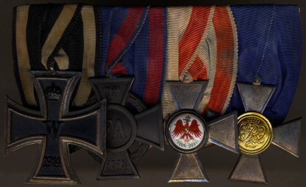 4er Ordensschnalle eines preußischen Offiziers WK1