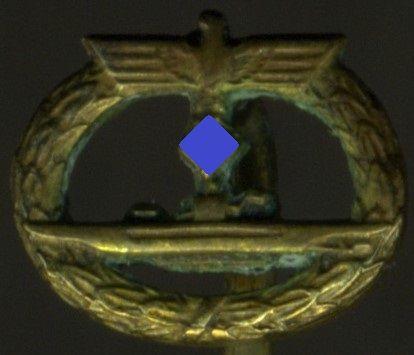 Miniatur - U-Boots-Kriegsabzeichen 1939