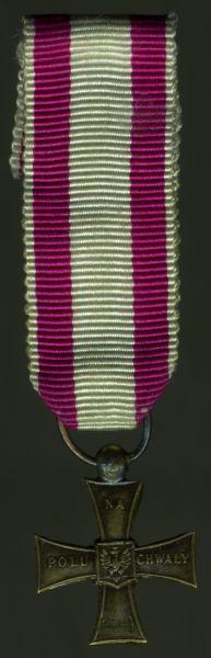 """Miniatur - Polen, Tapferkeitskreuz (""""Krzyz Walecznych"""")"""