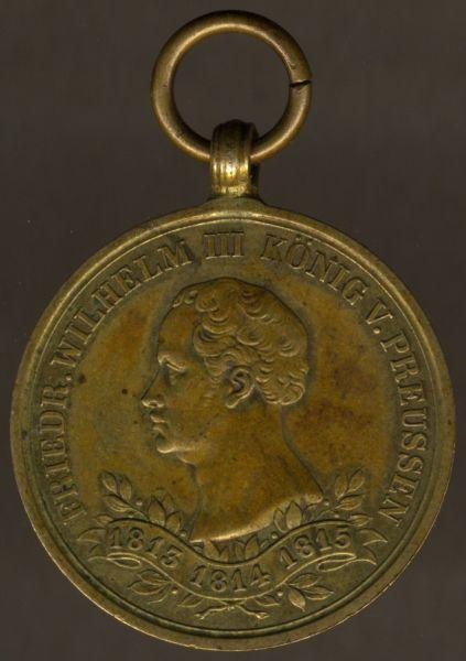 Preußen, Erinnerungs-Kriegsdenkmünze für die Kämpfer von 1813-1815
