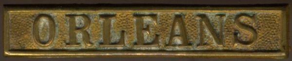 """Preußen, Gefechtsspange """"ORLEANS"""" zur Kriegsdenkmünze 1870/71"""
