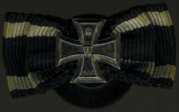Knopflochdekoration - Eisernes Kreuz 1914 - J. Godet & Sohn / Berlin