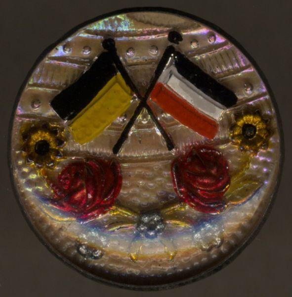 Patriotische Brosche Deutschland & Österreich