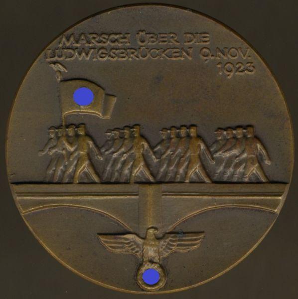 Medaille auf die Einweihung der Münchener Ludwigsbrücken 1935