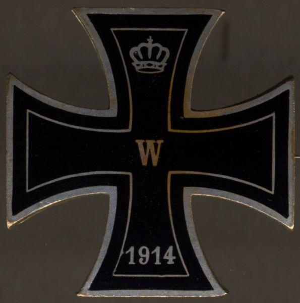Patriotische Brosche Eisernes Kreuz 1914