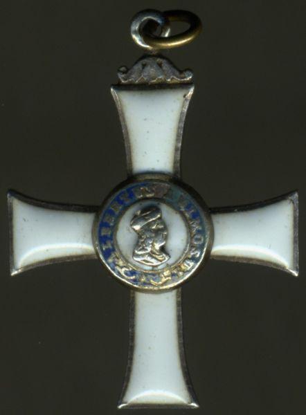 Miniatur - Sachsen, Albrechtsorden Ritterkreuz 2. Klasse