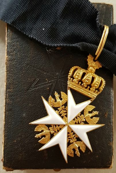 Preußen, Johanniter-Orden Kreuz der Rechtsritter mit Etui
