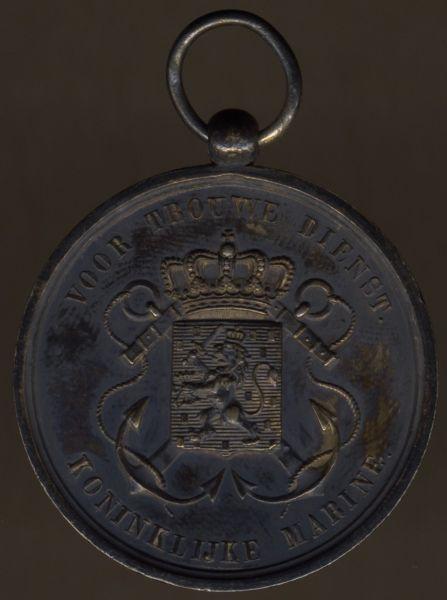 Niederlande, Marine-Dienstauszeichnung in Silber für Offiziere