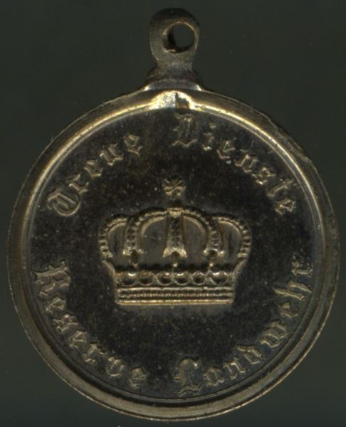 Miniatur - Preußen, Landwehr-Dienstauszeichnung 2. Klasse