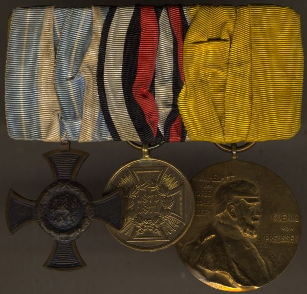3er Ordensschnalle eines bayerischen 1866- & 1870/71-Veteranen