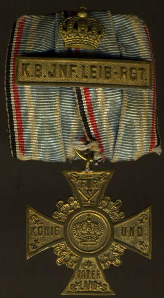Regimentskreuz-Schnalle des Königlich-Bayerischen-Infanterie-Leib-Regiments