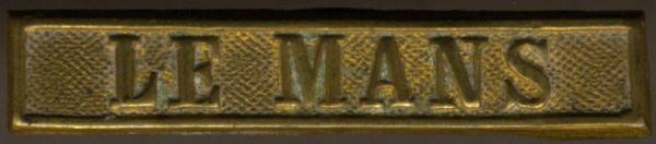 """Preußen, Gefechtsspange """"LE MANS"""" zur Kriegsdenkmünze 1870/71"""