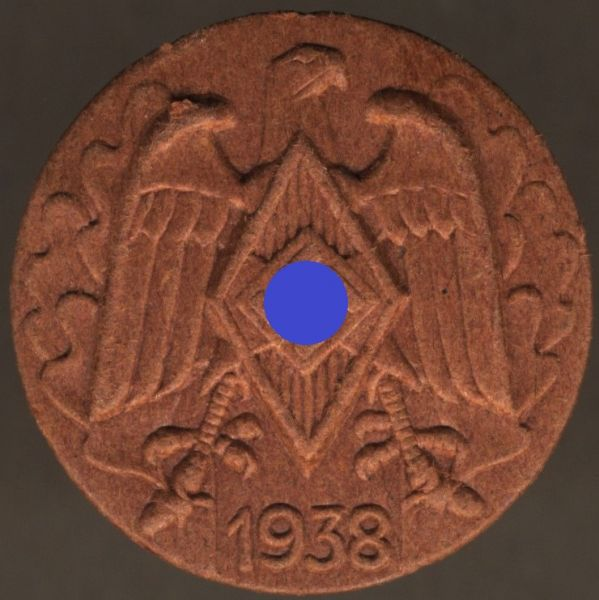 """Abzeichen """"Deutsches Jugendfest 1938 HJ"""""""