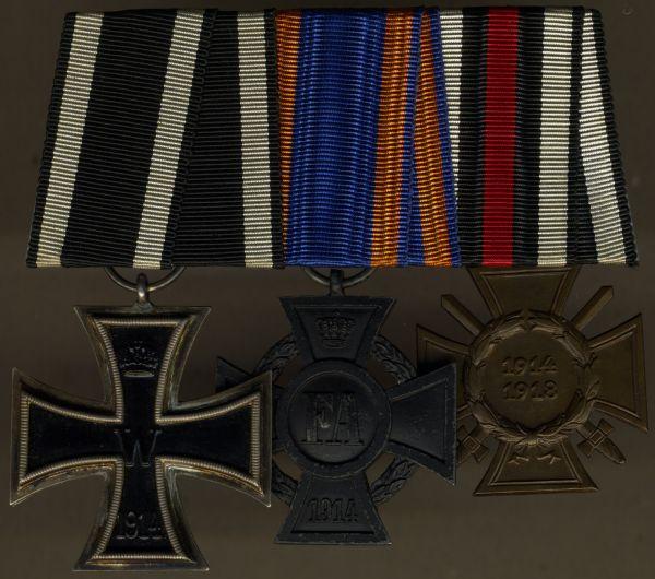 3er Ordensschnalle eines Weltkriegsveteranen mit Oldenburg