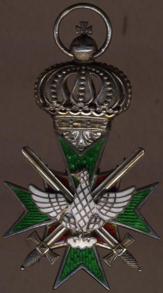 Sachsen-Weimar, Hausorden der Wachsamkeit oder vom Weißen Falken Ritterkreuz 2. Kl. mit Schwertern