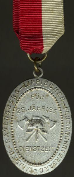 Ehrenzeichen für 25 Dienstjahre des Minden-Ravensberg-Lippischen Feuerwehrverbandes
