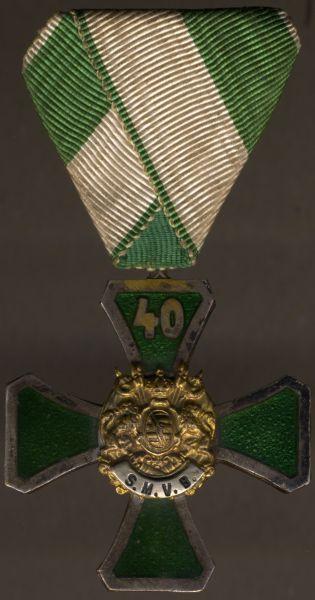 (Freistaat) Sachsen, Ehrenzeichen 2. Klasse des Sächsischen-Militär-Vereins-Bundes 40 Jahre