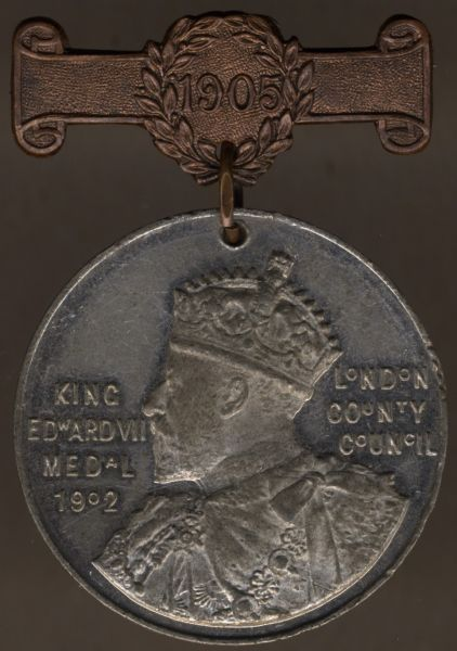 Großbritannien, Londoner Schulprämienmedaille in Silber 1905