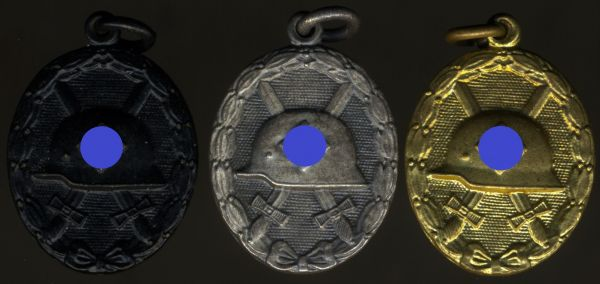 Miniaturen zum VWA 1939 in Schwarz, Silber & Gold