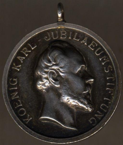 (Freistaat) Württemberg, Medaille der König Karl-Jubiläumsstiftung
