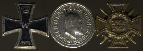 3er Miniaturenspange mit Württemberg, Silberner Tapferkeitsmedaille