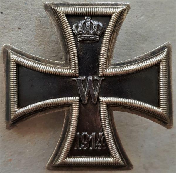 """Reduktion / """"Prinzengröße"""" - Eisernes Kreuz 1. Klasse 1914 - C.F. Zimmermann / Pforzheim"""