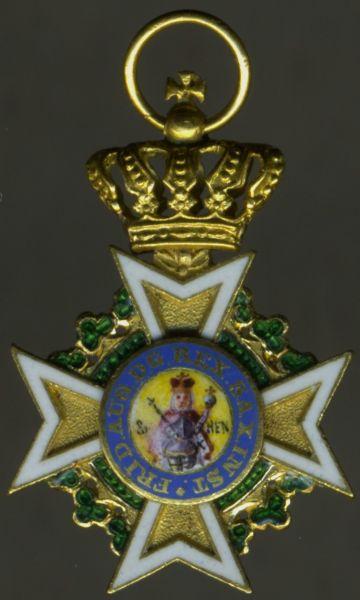 Miniatur - Sachsen, Militär-St. Heinrichs-Orden