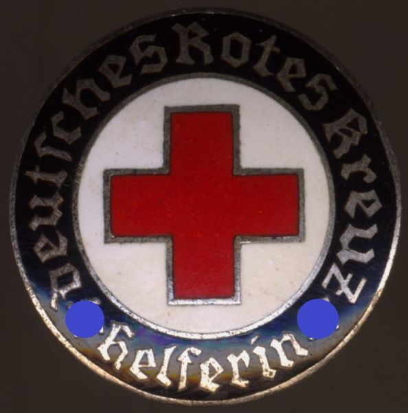 "DRK-Brosche ""Helferin"" - Frank & Reif / Stuttgart"