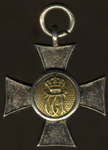 Miniatur - Württemberg, Landwehr-Dienstauszeichnung 1. Klasse