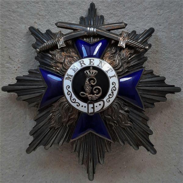 Bayern, Militär-Verdienstorden 1. Klasse-Stern mit Schwertern - Gebr. Hemmerle / München