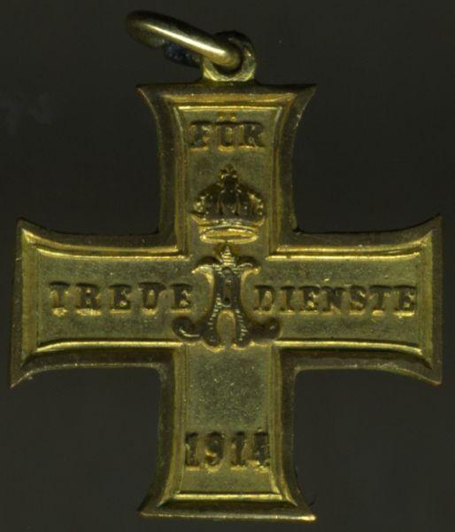Miniatur - Schaumburg-Lippe, Kreuz für treue Dienste (1914)