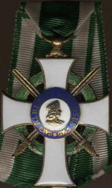 Sachsen, Albrechtsorden Ritterkreuz 1. Klasse mit Schwertern