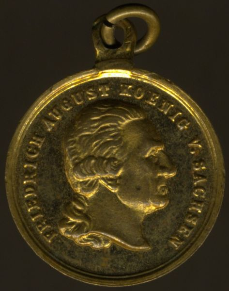 Miniatur - Sachsen, Goldene Medaille des Militär-St. Heinrichs-Ordens