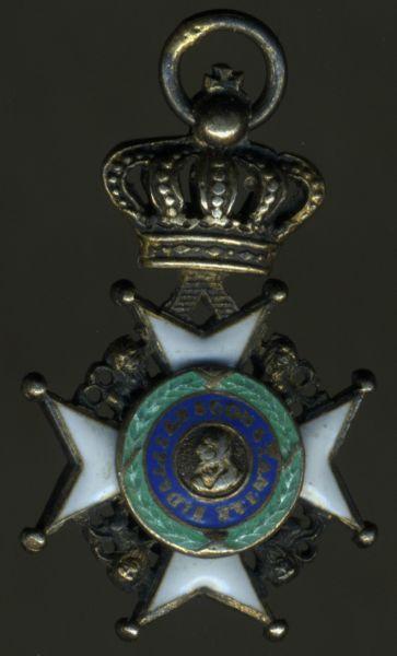 Miniatur - Sächsische Herzogtümer, Ernestinischer Hausorden Ritterkreuz 1. Klasse