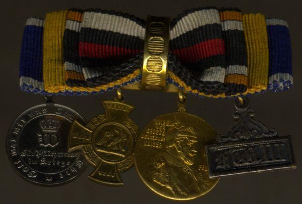 4er Knopflochdekoration 1866 & 1870/71
