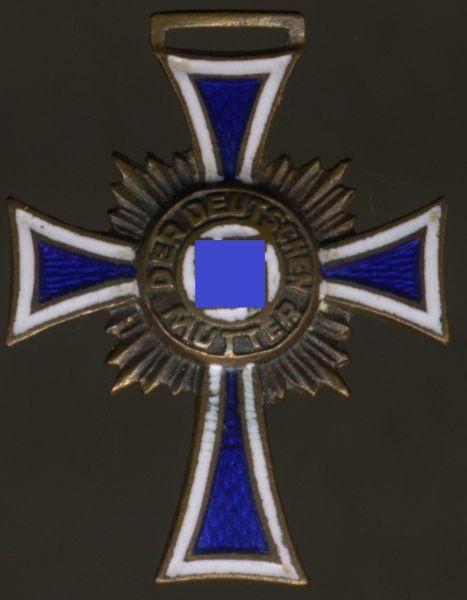Miniatur - Mutterkreuz in Bronze