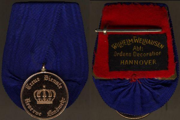 Einzelordensschnalle - Preußen, Landwehr-Dienstauszeichnung 2. Klasse